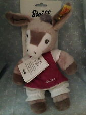 "Steiff Baby New 11""  Issy Donkey Girl or Boy Cuddle Toy Made In Germany W/ COA"