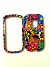 HTC HERO G3 GLOSSY MULTI COLOR FLOWERS ON BLACK GROUND COVER NEW