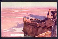 cpa Illustration Signée E. LESSIEUX 50 - MONT SAINT MICHEL (Manche) La GRÈVE