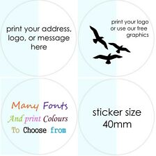 CLEAR Wedding Stickers Personalised Favor Favours labels Gift seals glossy x 50