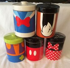 MICKEY MOUSE & FRIENDS CANISTER SET DISNEY PARKS COOKIE STORAGE JAR MINNIE GOOF