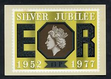 Post Office Picture Card - 1977 13p Silver Jubilee Stamp.