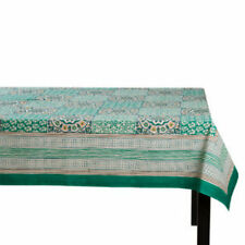 "TAG SUNDARI BLOCK Print TABLECLOTH-60"" x 84"" NWOT"