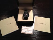 Burberry BU7701 Men's Endurance Black Chronograph Dial Sports Watch