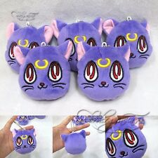 "Anime Sailor Moon Diana Purple Cat 3"" Mini Pendant Plush Toy Stuffed Doll 1pc"