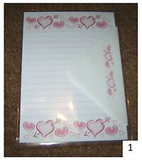 Cute Valentine's Day Love Hearts Letter Writing Paper Stationery Set