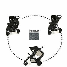 NEW HAUCK BLACK FREERIDER DOUBLE TWIN TANDEM STROLLER PUSHCHAIR BABY BUGGY