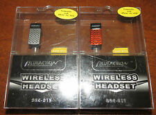 2 Blue Action BAE-815 Black Ear-Hook Headsets for Phone  NIB!