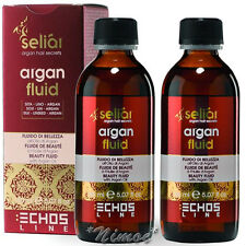 Beauty Fluid Argan Oil 2 x 150ml Seliar Echos Line ®Silk Linseed Fluido Bellezza