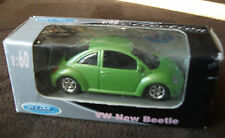 Welly Metall 52061W 1:60 VW NEW BEETLE KÄFER Rarität