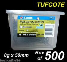 Treated Pine Timber Screws - Tufcote -  BULK 8g x 50mm - Box of 500
