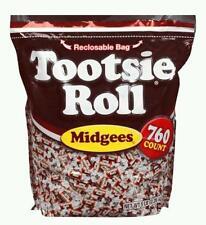 TOOTSIE ROLLS 5 lb Chocolate Midgees 760 ct Resealable bulk Candy bag