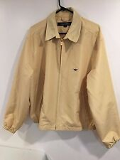 VINTAGE 1960S TOWNCRAFT JC PENNEYS YELLOW JACKET WORK SPRING LARGE LONG