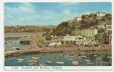 D H Greaves Postcard, S 282, Sea-front and Harbour, Tourquay - Posted 1962