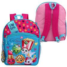 """16"""" Backpack SHOPKINS FOOD Girls Children School Book Large Bag Pink NEW"""