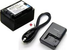 Battery & Charger for Canon VIXIA HF M50 HF M52 HF M500 HF R30 HF R32 HF R40