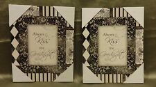 "Set of Two Decorative Pictures ""Always Kiss me Good Night"""