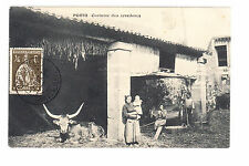CPA  EUROPE PORTUGAL -  AGRICULTURE FERME VACHE COSTUME DOS ARREDORES 1916 ~B29