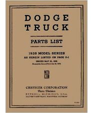 Factory MoPar Parts Manual for 1938 Dodge & Plymouth Trucks