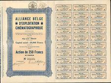 RARE =  ALLIANCE BELGE d'EXPLOITATION CINÉMATOGRAPHIQUE (IXELLES BELGIQUE) (R)