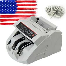 USA LED Money Bill Counter Counting Machine Counterfeit Detector UV MG Cash HOT