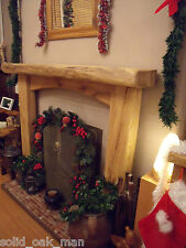 """6""""/3"""" SOLID OAK BEAM, Wooden, Rustic Fireplace Surround with Arched Cross Board"""