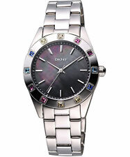 DKNY NY8718 Glitz Colored Crystals MOP Women's Watch - New & Authentic