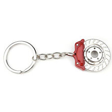 1pc Metal Red Creative personality auto parts brakes key chain couple pendant