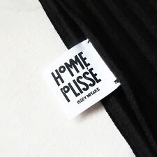 HOMME PLISSE ISSEY MIYAKE 'pleated scarf' black pleats please fringe long pleat