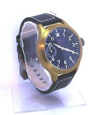 TC-9 Pilot Watch Seagull 6497 brass and Titanium. free maranez / armida strap