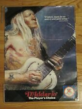 """D'Addario JOHNNY WINTER """"Thanks for Ten Years of Great Guitar Strings"""" Poster"""