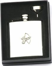 Archer 6 oz Hip Flask Personalised Bow Hunting Gift Boxed FREE ENGRAVING