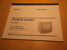 Sony TV/VCR Combo KV-13VM20 Circuit Desc. and Troubleshooting TVC-01