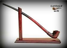 "TOBACCO SMOKING PIPE + STAND Gandalf 82 - Hobbit  CHURCHWARDEN LONG 14""   RED"