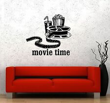 Vinyl Decal Movies Cinema Film Popcorn Room Decor Wall Stickers Mural (ig3342)