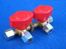 VK 2 Verteilerblock RVS 8 mm Schnellschlußventil Absperrhahn Flüssiggas Gasrohr