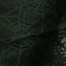 Black Spiderweb Lace Net Halloween Fabric *Per Metre