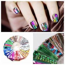 10Pcs New Foils Finger DIY Nail Art Sticker Decal Water Transfer Tips Accessory