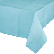 """54"""" x 108"""" Pastel Blue Wedding Birthday Party Tableware Paper Table Cover"""
