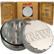 RAW Rolling Papers Super Shredder - 2 Part Grinder  - Aircraft Grade Aluminium