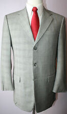 Hickey Freeman Gray Check Three Button Super 120 Wool Suit Size 38 L 32 31 Pants