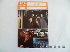 CARTE FICHE CINEMA 1992 LA PESTE William Hurt Sandrine Bonnaire Jean Marc Barr