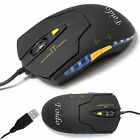 ADJUSTABLE 1600 DPI USB WIRED OPTICAL GAME GAMING PC LAPTOP 6 BUTTONS LED MOUSE