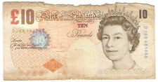 Offer Britian old used 10pounds  banknote   !
