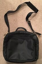 VINTAGE ITALY BALLY BLACK UNISEX MESSENGER COMPUTER DOCUMENT BAG Briefcase Nice