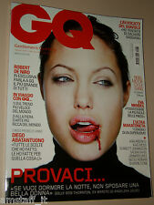 ANGELINA JOLIE COVER MAGAZINE GQ 2007=DEAN KARNAZES=EVA MENDES=ABATANTUONO DIEGO