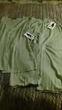 Why Not? 2 Piece Suit M Women Green Rayon Acetate NWT Inseam 27 Stretch Waist
