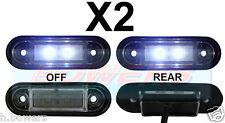 2x 12V/24V FLUSH FIT WHITE LED MARKER LAMPS/LIGHTS KELSA BAR DAF SCANIA VOLVO