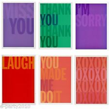 (24) Colorful NOTE Thank You GREETING CARDS w/ ENV ~ Birthday Party Supplies
