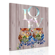 Unframed Canvas Print Home Decor Wall Art Poster Picture-Retro Owl Lovers